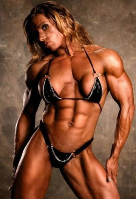 musculos de mujer gimnasio